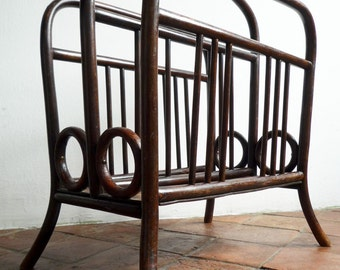 antique THONET bentwood  magazine rack display music stand from the 1910's Vienna