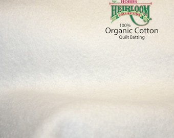 100% Organic Cotton Quilt Batting - 1/2 Yard