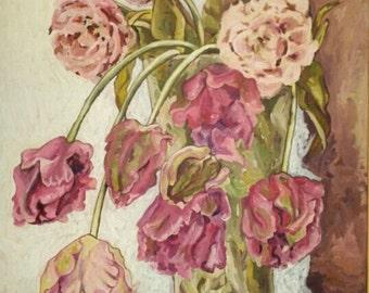 Tulips. Acryl on canvas 50 x 70 cm