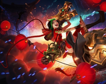 Firecracker Jinx costume cosplay League of Legends custom made