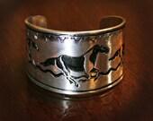 Paint horse cuff bracelet
