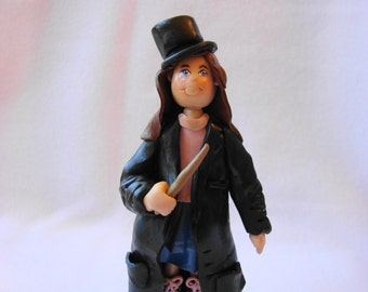 Custom Single Person  Polymer Clay Ornament, Figurine.  A  Hand Crafted Art Sculpture