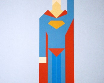 Up in the Sky 11x17 giclée Superman print