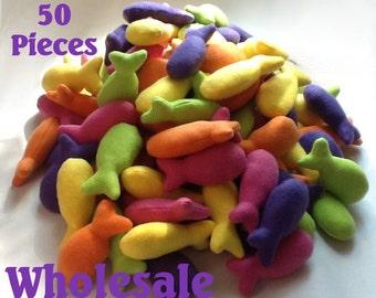 50 Wholesale Rainbow Catnip Fishes
