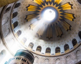 Israel Photography, Church of the Holy Sepulchre, Fine Art Photo, Jerusalem Old City, HDR Photo