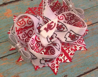 Chiefs twisted boutique bow