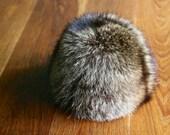 Vintage Saks Fifth Avenue fox fur hat topper