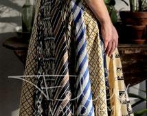 Flowing skirt made from 100& silk from vintage men's ties