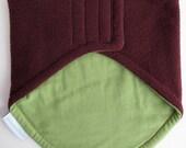 50% OFF Neck Warmer, Kids' Winter Neckwarmer - Fleece & Jersey, adjustable toddler scarf, velcro-fastening, rich burgundy fleece