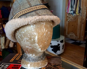 Mens Vintage Hunting Hat