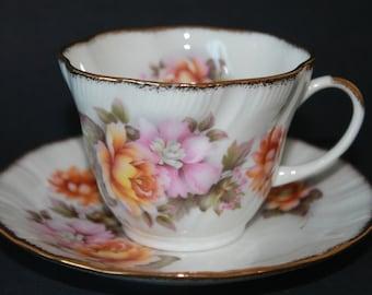 Royal Heritage Bone China Teacup and Saucer Set