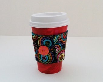 Coffee Cozy, Coffee Cup Sleeve, Multi-Colored Coffee Cozy