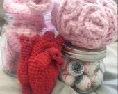 Medical Brain Heart Intestine Eyeballs 4in1 Anatomically Correct Crochet Patterns PDF