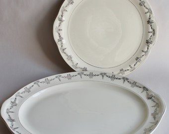 Vintage Pair Taylor Smith Chine Serving Platter & Plate