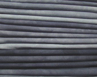 FREE SHIPPING - Hand Dyed Cotton Quilt Fabric - Shades of Grey