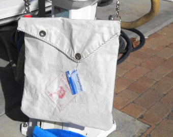 Messenger Hip Bag recycled Bludworth Sail Houston made