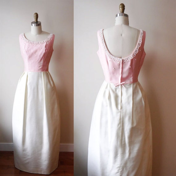 1960s Neapolitan Gala Gown // beaded // vintage dress