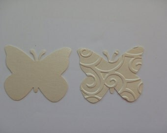 50  butterflies mettalic quartz cardstock