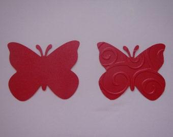 50  butterflies mettalic azalea cardstock