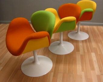 Pierre Paulin 3 'Little Tulips' chairs by Artifort