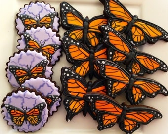 12 Vegan Monarch Butterfly Sugar Cookies
