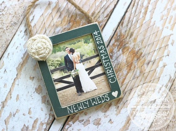 Newlywed Wedding Christmas Ornament Personalized