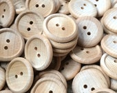 10 Wood Buttons - 1 Inch - Craft Buttons Party Supplies