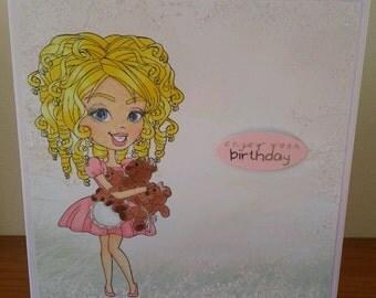 6x6 Size Teenager Birthday Card