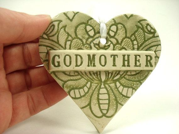 Godmother Gift Godparent Ornament Godmother Keepsake