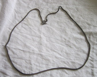 Nice Vintage Sterling Silver 19 inch Box Chain Necklace