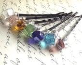 Set of 7 Colorful Hair Pins
