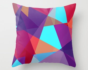 Purple Outdoor Pillow / UV Resistant / Mildew Resistant / Geometric Outdoor Pillow / 18x18 inch Outdoor Pillow /  20x20 inch Outdoor Pillow