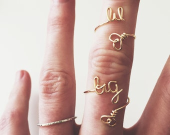 Big & Lil Ring Set