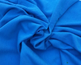 Organic Cotton Blend Jersey Knit Fabric ELECTRIC BLUE By the Yard - Eco Friendly T