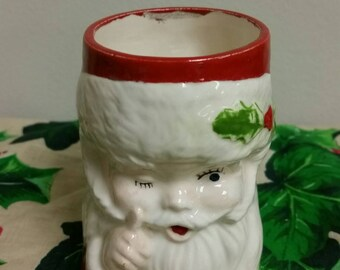 Winking Santa Planter