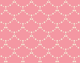 Baby Crib Bedding - Pink Pearl Scallops