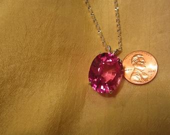 Large Bubble Gum Pink Oval Pendant