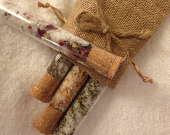 Organic Bath Salts in Glass Tubes