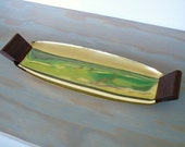 Solid Brass Mid-Century Mod Tray, Made in USA