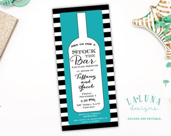 Stock The Bar Invitation, Stock The Bar Invite, Stock the Bar Couples Shower, Engagement Party, Wedding Shower Invitation, DIY Printable