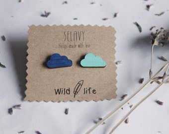 Earrings Two Clouds. Wild life Collection