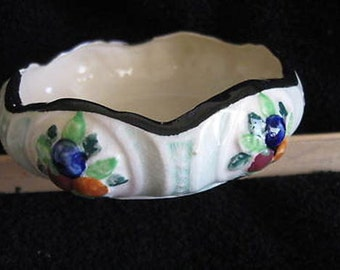 Candy Trinket Bowl Maruhon Ware Made in Japan Vintage Pottery CL14-12