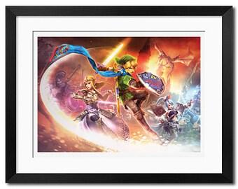 The Legend of Zelda Hyrule Warriors Poster Print