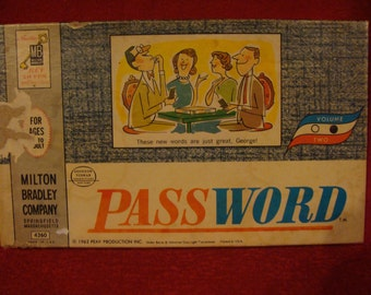 Vintage Password Game from 1962
