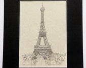 Eiffel Tower Ink Drawing