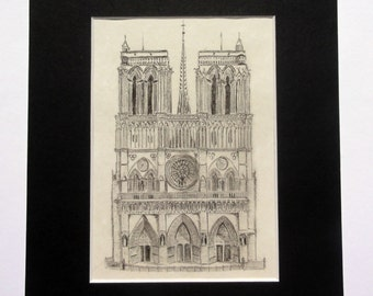 Notre Dame Pencil Drawing