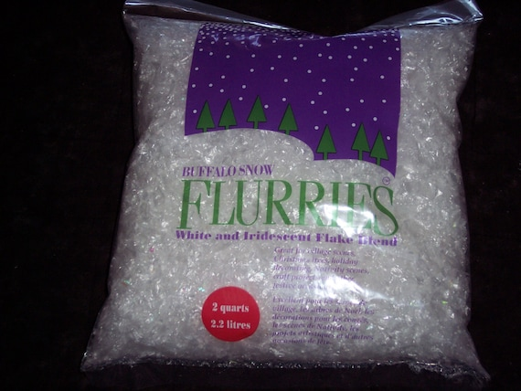 Flurries artificial snow flakesbuffalo snowwhite