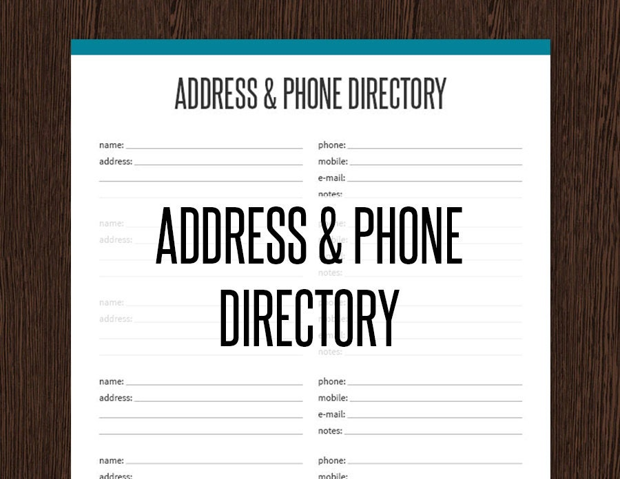 telephone listings by address