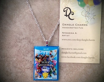 Video game case necklace