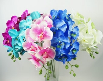 5 pcs Life Size Phalaenopsis Silk Orchids For Wedding Table Centerpieces Home Decor Butterfly Orchid Flowers